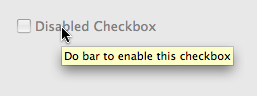 Disabled Checkbox with Tooltip