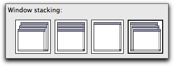 BBEdit's window stacking setting