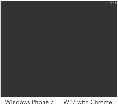 Windows Phone 7 with and without chrome