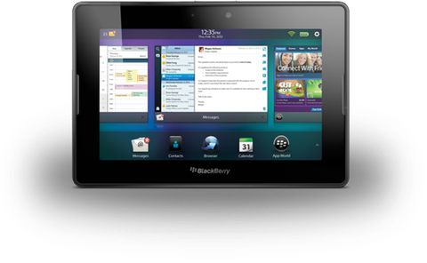 BlackBerry PlayBook multitasking UI